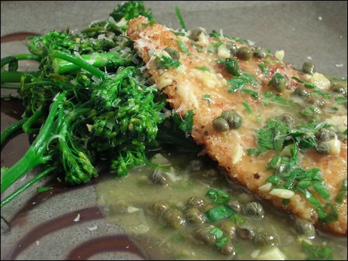 Chicken Picatta with Sauteed Broccolini