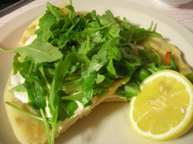White Pizza with Arugula - light and delicious