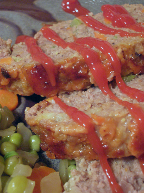 I know there's not really any way to make ketchup look anything but gruesome. But, I really like ketchup on my meatloaf.